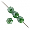 Fire Polished 4mm Green Silk Luster